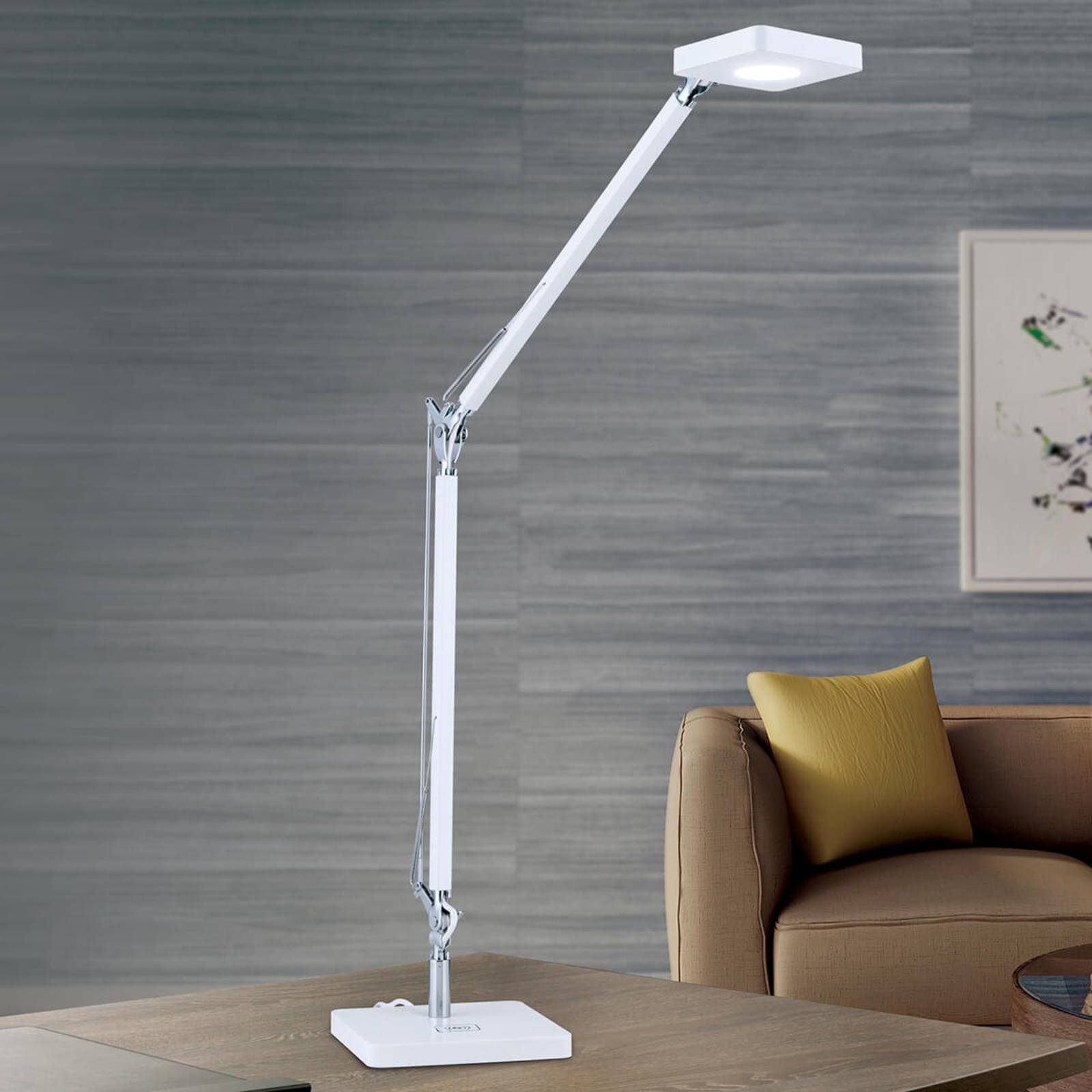 QI-capable LED desk lamp Dave in white from Orion
