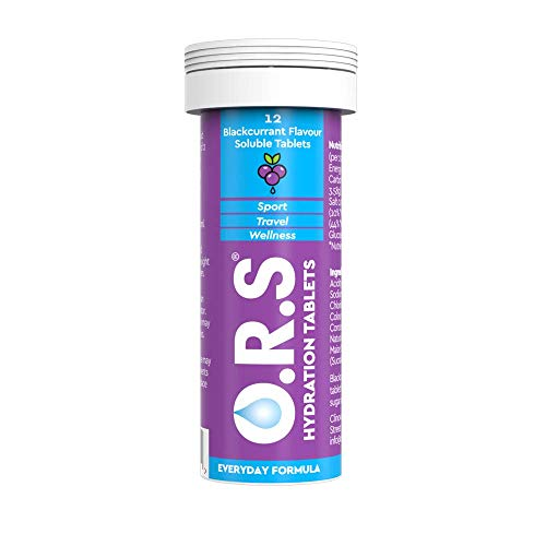 O.R.S Hydration Electrolyte Tablets Blackcurrant Tube of 12 from O.R.S Hydration Tablets