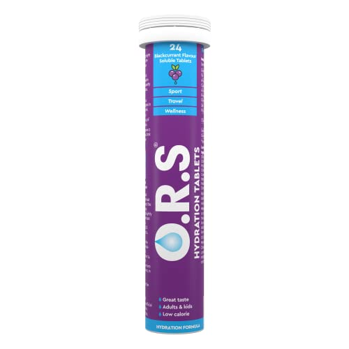 O.R.S Hydration Electrolyte Tablets Blackcurrant Tube of 24 from O.R.S Hydration Tablets