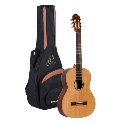 Ortega Guitars R122 Family Series Nylon 6-String Guitar with Cedar Top and Mahogany Body, Satin Finish from Ortega Guitars