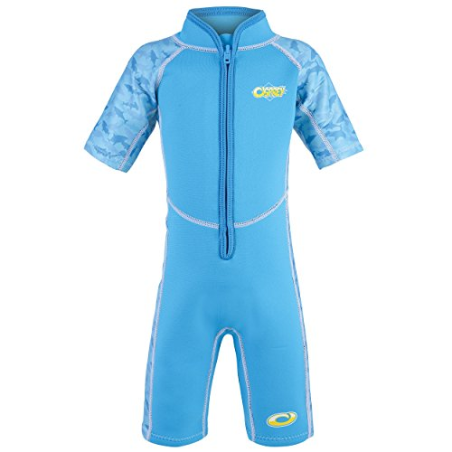 Osprey Kid's Toddlers 3 mm Shorty Summer Wetsuit with SPF 50+ for Boys and Girls, Sharks-Blue, Age 1 from Osprey
