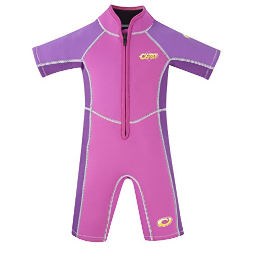 Osprey Kid's Toddlers 3 mm Shorty Summer Wetsuit with SPF 50+ for Boys and Girls, Oyster-Pink, Age 1 from Osprey