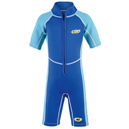 Osprey Kid's Toddlers 3 mm Shorty Summer Wetsuit with SPF 50+ for Boys and Girls, Octopus-Blue, Age 1 from Osprey