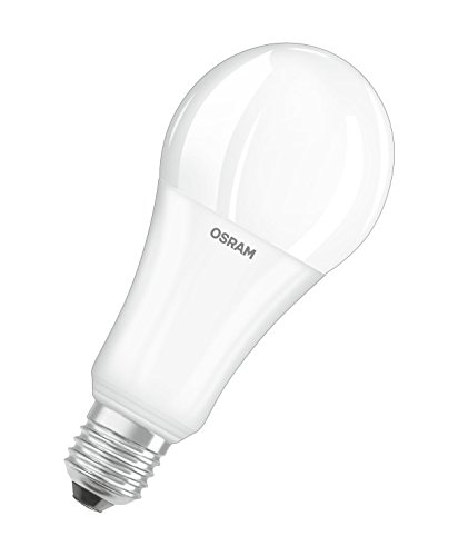 Osram LED SuperStar Classic A/LED Lamp, Classic Bulb Shape, with Screw Base: E27, Dimmable, 220 to 240 V, Frosted, 2700 K, Warm White, 21 W, 150 W Replacement, Pack of 1 from Osram