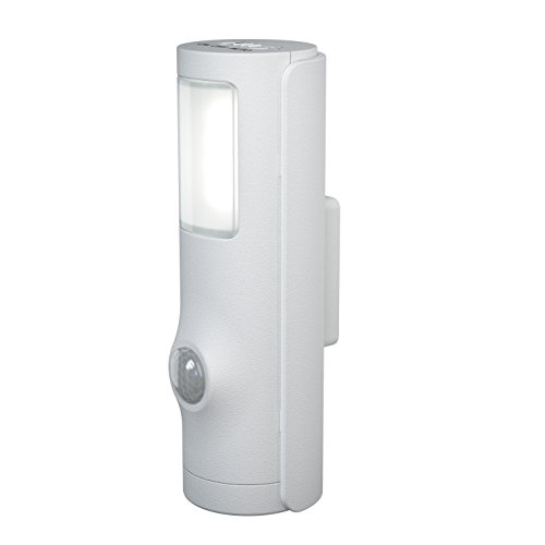 Osram LED Luminaire/Nightlux Torch Battery-Operated and Detachable/Integrated Motion Sensor/Day-Night-Sensor/IP54/Cold White-4000 K, 0.4 W, Cold White from Osram