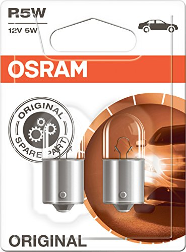 OSRAM Original 12V R5W halogen auxiliary lights 5007-02B in double blister - silver/clear from Osram