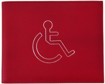 DISABILITY DISABLE BADGE HOLDER CARD HOLDER WALLET (Red) from Other