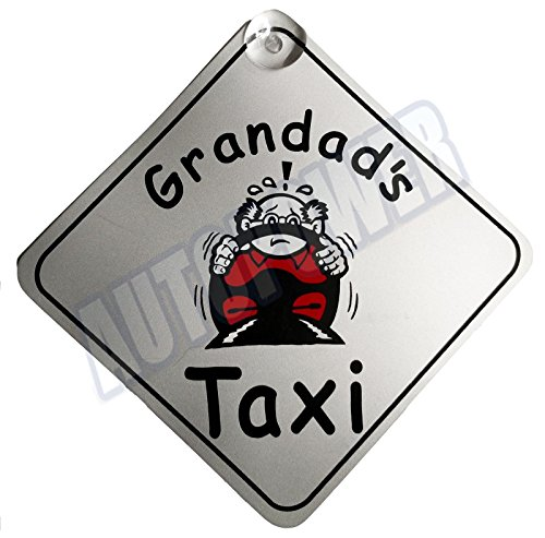 Grandad's Taxi Suction Cup Safety Fun Car Display Window Badge New On Board Sign from Other