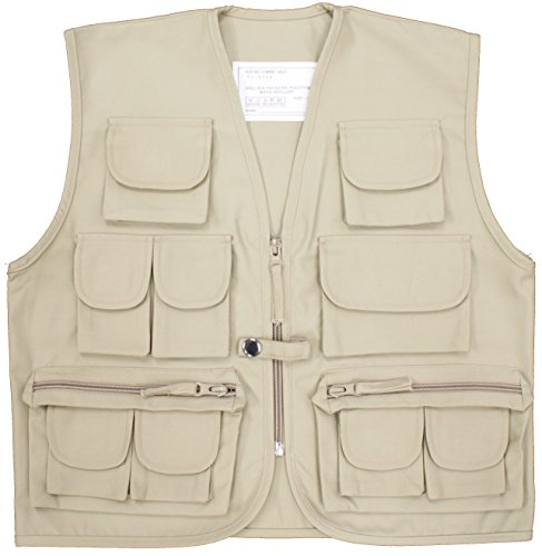 Other Kids Multi Pocket Waistcoat Army Clothing Cadet Uniform (11-12 Years (XL), Beige) from Other