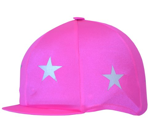Reflective Stars Hat Cover - Pink, One Size