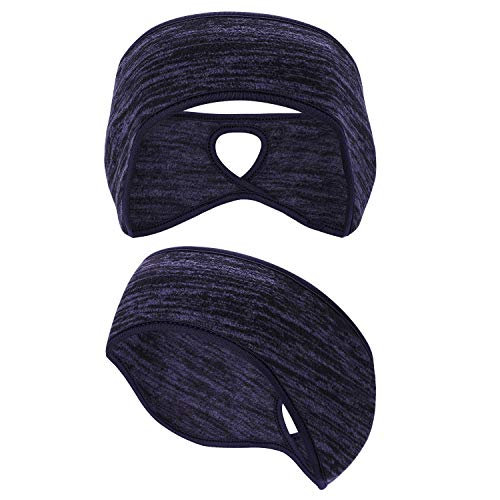 Oumers Fleece Ponytail Headband(1pc), Ear Warmer Polar Fleece Ear Muff Hair Band for Men and Women Winter Running Yoga Skiing Outside Sport from Oumers
