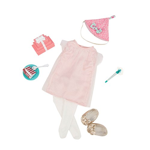 18ca0b0dc Our Generation 44578 Birthday Surprise Deluxe Doll's Outfit, Multi-Colour  from Our Generation