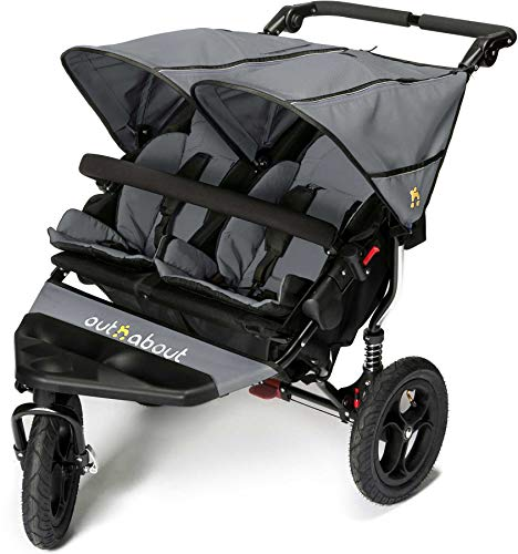 Out n About Nipper Double v4 Stroller Steel Grey from Out 'n' About
