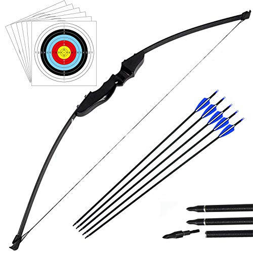Outdoor Recurve Bow and Arrow Set Archery Training Toy(40LB,5×Arrows,6×Target Faces) from Outdoor-shooter