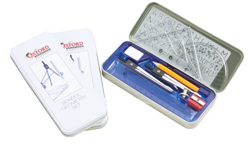 Oxford Educational Supplies Geometry Set in a Tin from Oxford Educational Supplies