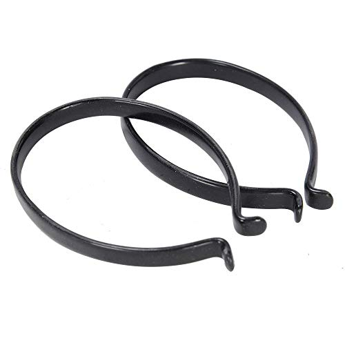 Cycle trouser clips - Black steel Bike ankle bands with PVC coating TC954 from Oxford
