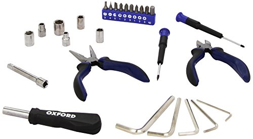Oxford 590-OF291 Seat Motorcycle Tool Kit-Black/Blue from OXFORD