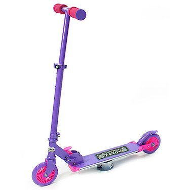 OZBOZZ SV12712 Purple and Pink Lightning Strike Scooter with Motion Activated Lights from Ozbozz