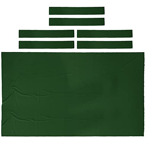 P Prettyia Pool Table Cloth with 6Pcs Strips for 9ft Snooker Pool Billiards Table - Green from P Prettyia