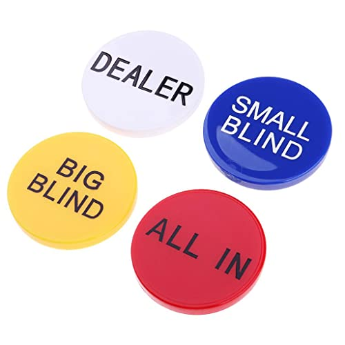 P Prettyia Big Little Blind All in Poker Chip Dealer Button Texas Hold'em Props from P Prettyia