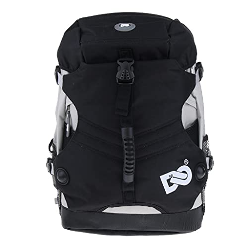 P Prettyia Roller Inline Skates Backpack Skating Shoes Boots Storage Carry Bag - Black from P Prettyia