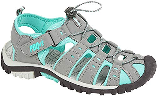 LADIES PDQ CLOSED TOE SPORTS SANDALS SIZE UK 3-9 GREY WALKING ADVENTURE L377 KD (UK6) from PDQ