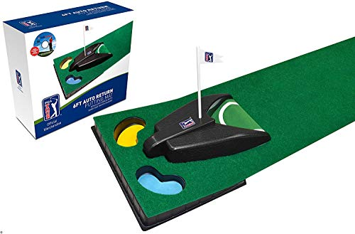 PGA Tour 6ft (1.8m) Automatic Ball Return Putting Mat from PGA Tour