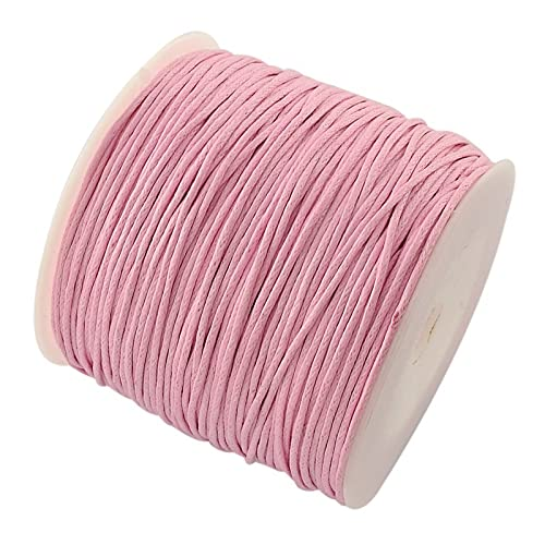 PandaHall 100 Yard/Roll 1mm Waxed Cotton Thread Cords for Jewellery Making, Knotds Making. from PandaHall