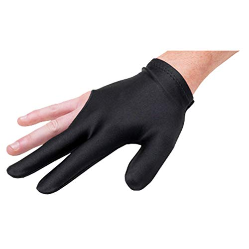 PINKLADY Snooker Pool Billiard Glove Cue Shooter Spandex 3Fingers Glove Left Right Handed (Black) from PINKLADY