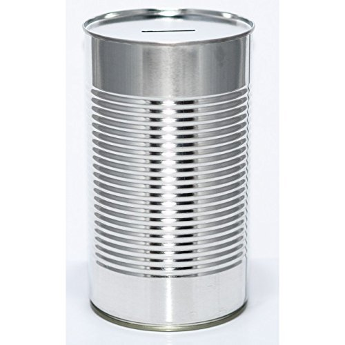 Metal Savings Tin - (LRG) Blank Tin Holds £1,000 when Full - Open with Tin Opener - Ideal Promotional Product (12-Tins) from PIP Solutions UK