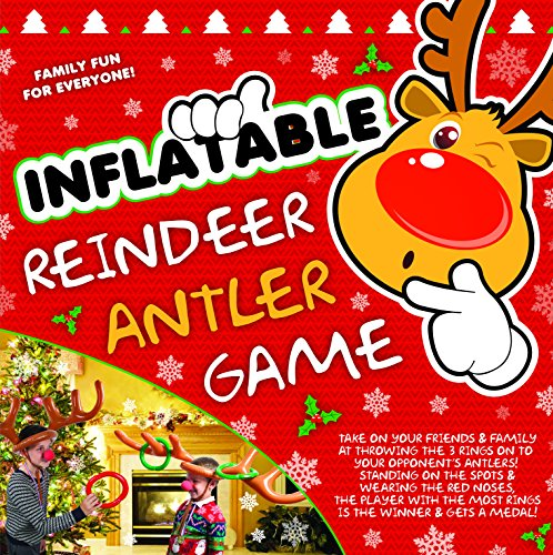 Toyland® Inflatable Reindeer Hat Ring Toss Antler Game - Christmas Family Games - Christmas Party Game from Toyland