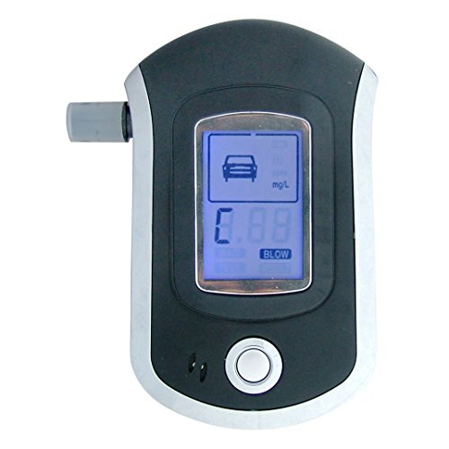 PNI AT6000 Digital Alcohol Tester Breath Analyzer, Large Digital LCD Display from PNI