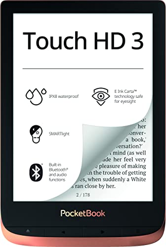 PocketBook e-Book Reader 'Touch HD 3' (16 GB Memory, 15.24 cm (6 Inch) E-Ink Carta Display; SMARTlight; Wi-Fi; Bluetooth) in Copper from POCKETBOOK