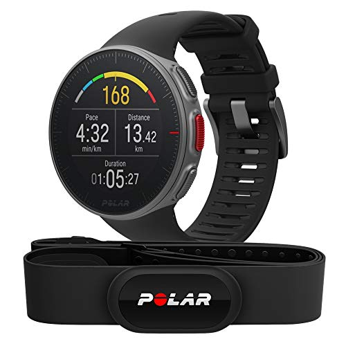 Polar Vantage V Premium GPS HRM Sports Watch for Men and Women with Ultra-Long Battery Life, Multisport and Triathlon, Training Heart Rate Monitor, Waterproof from POLAR