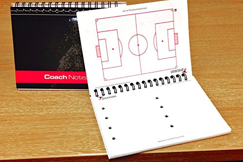 A5 Football Coaches Notepad - Match day Coaches Notepad Tactics Book from PRECISION