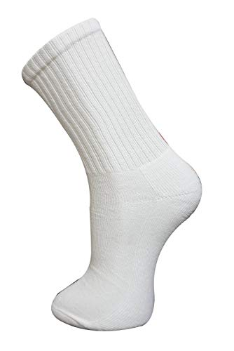 New Mens 12 Pairs COTTON Plain White Sport Socks UK 6-11 EUR 39-45 from PRO ACTIVE