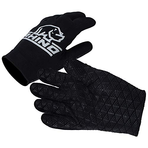 Rhino Unisex's Pro Full Finger Rugby Glove, Black, S/M from Rhino