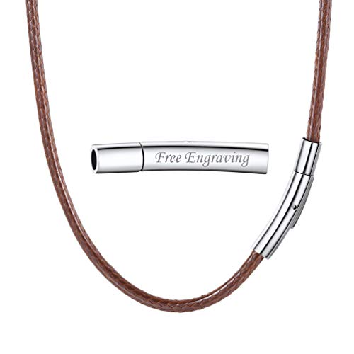 PROSTEEL 18 inch Choker Chains Wax Rope Necklace Brown Personalized Chain from PROSTEEL