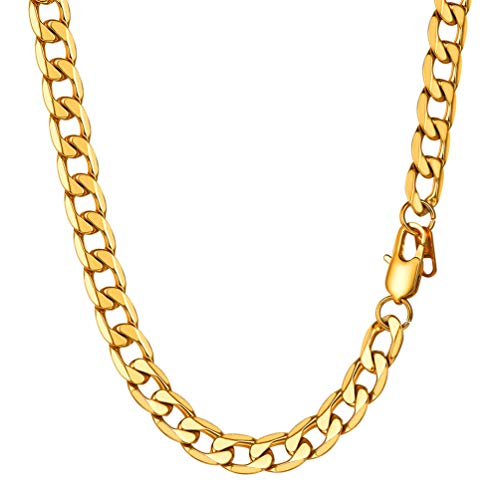 PROSTEEL 18K Gold Plated Hip Hop Chain for Men Jewelry 8MM Thickness Rapper Accessories Party Gift from PROSTEEL