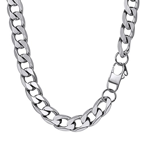 PROSTEEL Hip Hop Necklace Stainless Steel Link Curb Chain Heavy Men Jewelry Gift from PROSTEEL