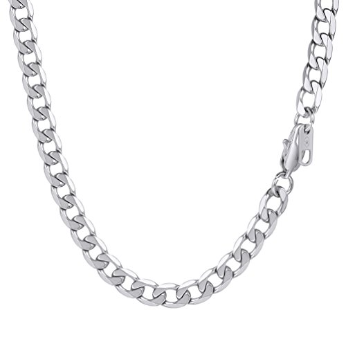 PROSTEEL Stainless Steel Rapper Chain 26Inch Mens Hip Hop Curb Necklace Collar from PROSTEEL