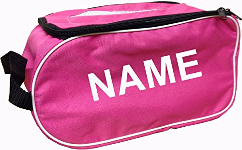 PROSTYLE SPORTS PERSONALISED Football Boot Bag/Shoe Bag Football/Rugby/Hockey/Gym - Pink from PROSTYLE SPORTS