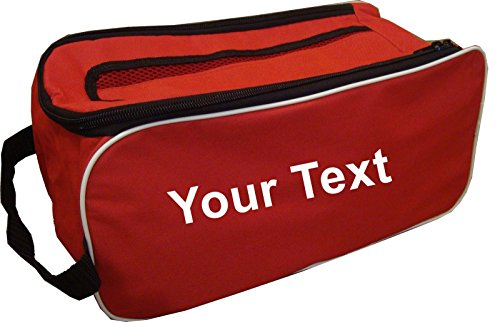 PROSTYLE SPORTS PERSONALISED Football Boot Bag/Shoe Bag New Football/Rugby/Hockey/Gym - Red from PROSTYLE SPORTS