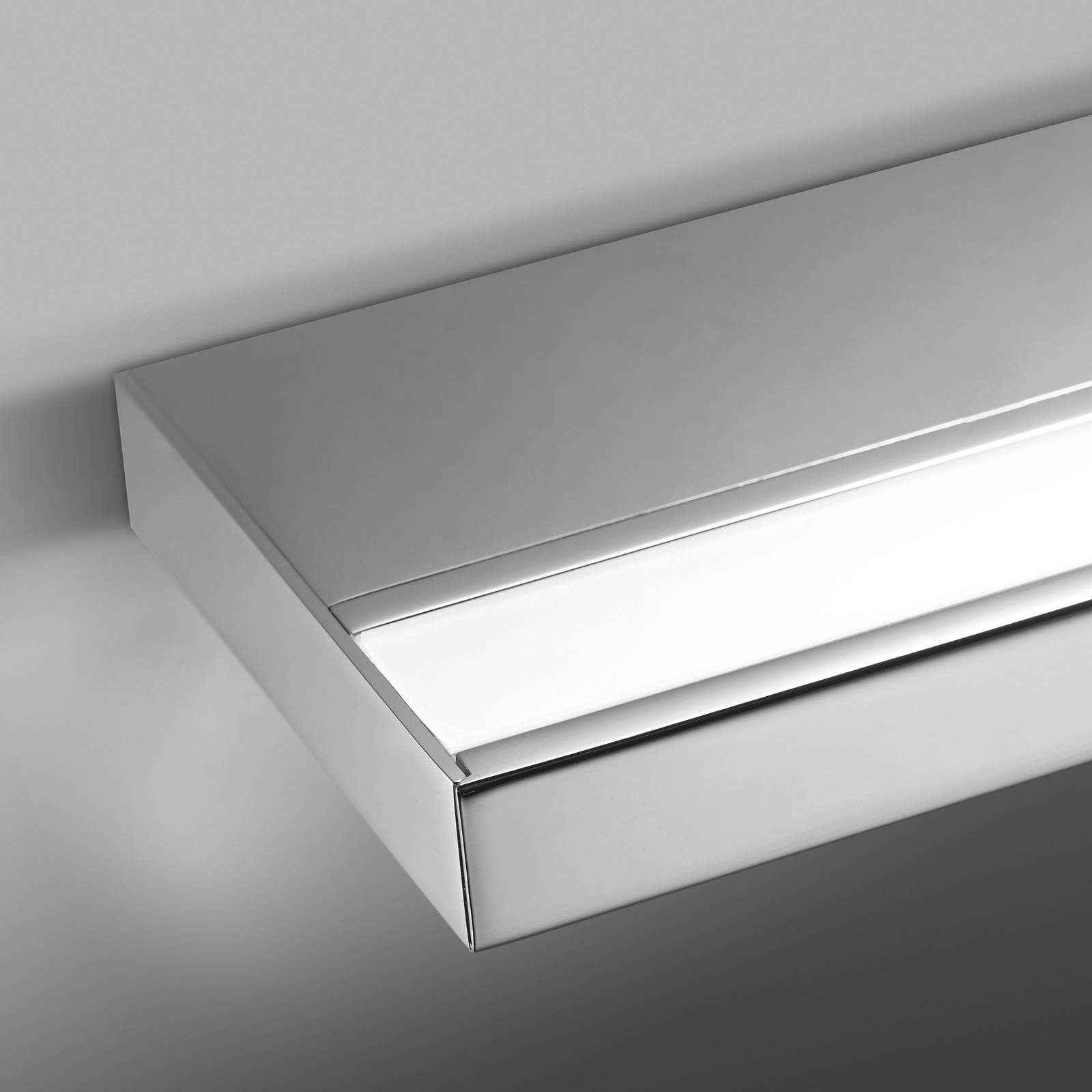 LED bathroom wall light Prim, IP20, 120 cm, chrome from Pujol
