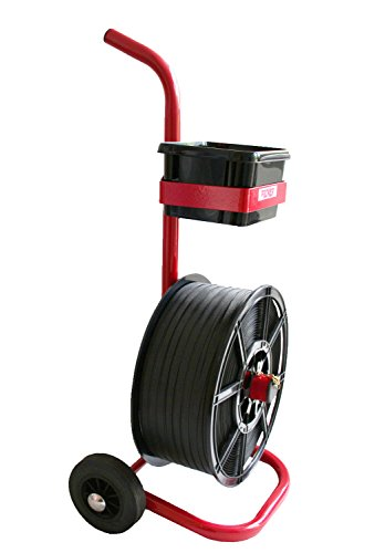Strapping Trolleys for Strapping on a Plastic Reel from Packaging2Buy