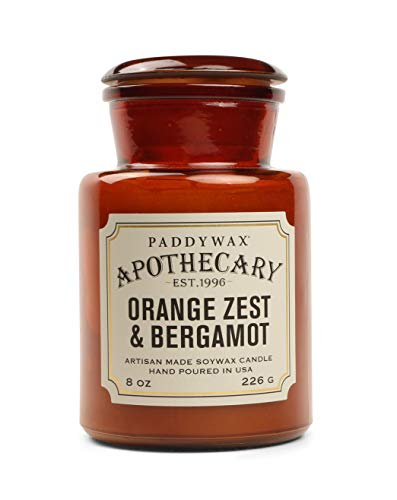 Paddywax Apothecary Collection Jar Candle, Orange Zest/Bergamot, 8 oz from Paddywax