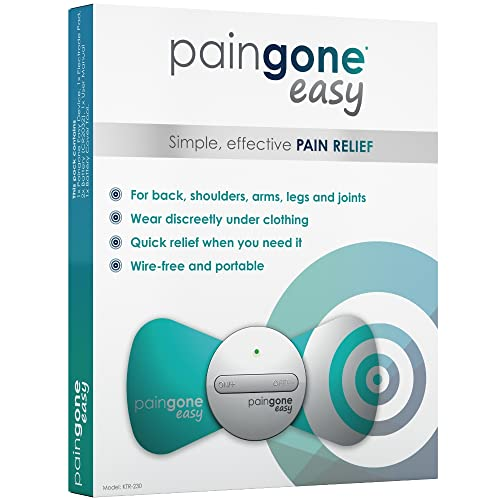 TENS Machine - Paingone Easy - Wire Free, Portable Electrical Stimulation Device for Temporary Relief of Aches and Pains from PainGone