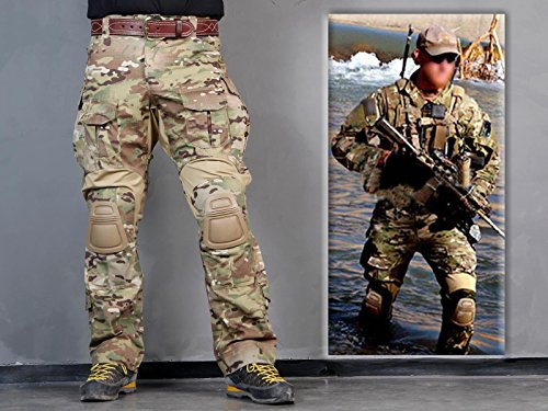 Men Military Airsoft Hunting bdu Trousers Combat Gen3 Tactical Pants with Knee Pads Multicam MC from Paintball Equipment
