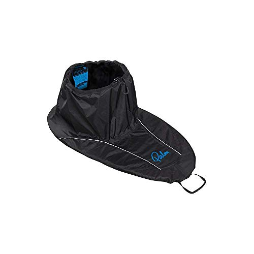 Palm 2017 Coniston Recreational Touring Spray Deck in Black with Blue Logo - Stitched and Heat Taped Seams from Palm