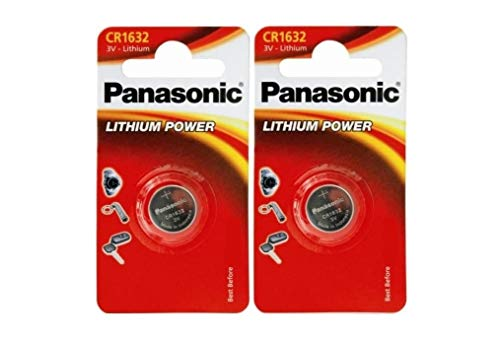 Panasonic 1632 CR1632 3V Lithium 2 Pack Battery from Panasonic